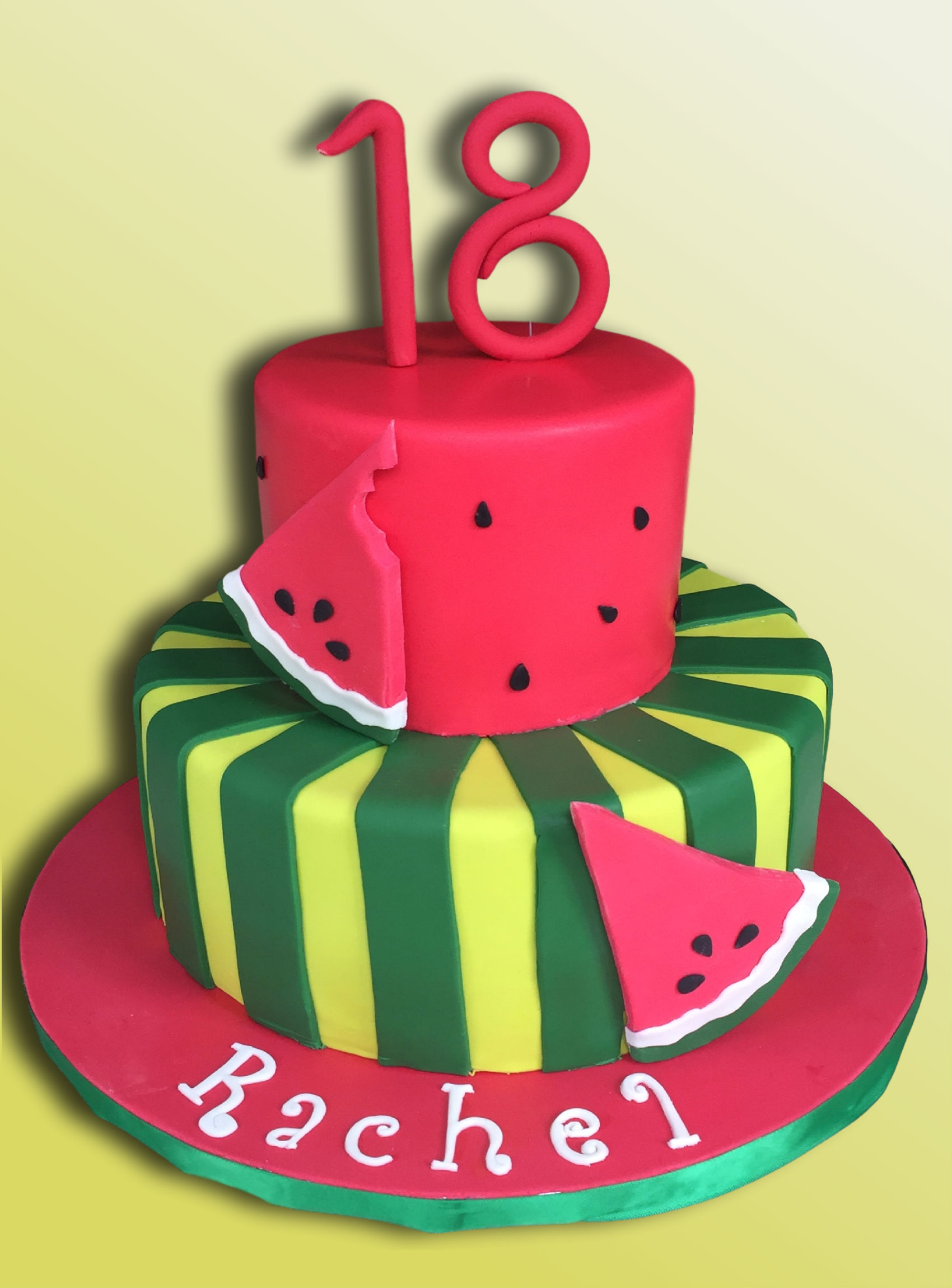 18th Birthday Cake Watermelon Theme Cake Celebrations